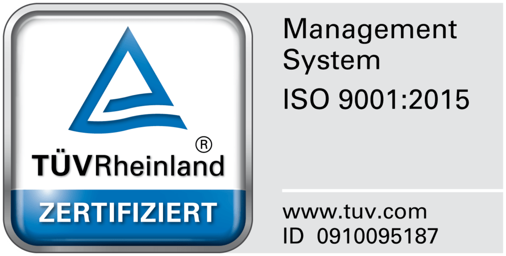 TÜVRheinland ISO 9001-2015